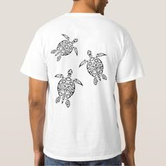 Turtles Tribal Tattoo Black Animal T-Shirt - animal gift ideas animals and pets diy customize