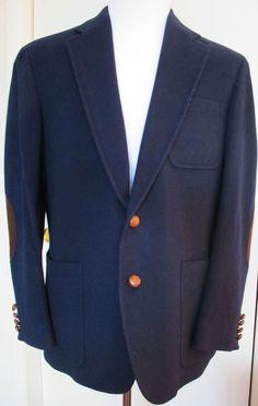 58e8d684033371 Vintage Men s Norm Thompson Cashmere Sport Coat Jacket Size 43