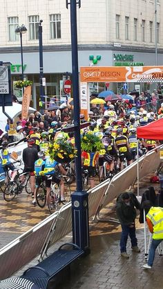 Tweeted by  @Choosys_coffee - Getting ready for the first race, Enterprise Inns Supporter Race #criterium #huddersfield