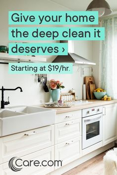 Hire a Housekeeper today to give your home the attention it deserves. Speed Cleaning, House Cleaning Tips, Diy Cleaning Products, Spring Cleaning, Cleaning Hacks, Cleaning Quotes, Kitchen Cabinets Decor, Diy Kitchen Decor, Kitchen Staging