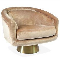bacharach swivel chair super glam, funky pink velvet chair by Jonathan adler....who else? IN LOVE