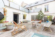 Terrasse - loft dans Paris pour organiser vos événements. Location.
