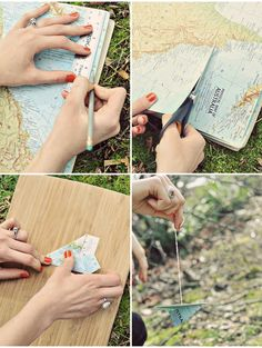 Paper airplane from a map