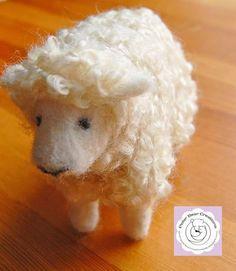 Needle felted sheep /Polar Bear Creations Dolls