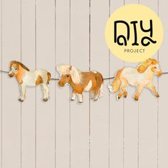 Decorate your walls with a DIY pony garland.