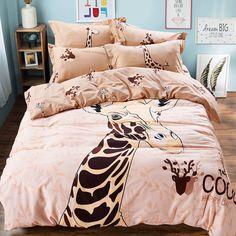 CASA Children 100% cotton series Giraffe Duvet cover & Pillow case & Flat sheet,3 Pieces,Twin //Price: $47.27 & FREE Shipping // #bedding sets