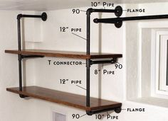 DIY Industrial Pipe Shelving | Chris Loves Julia