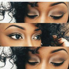 Super Ideas Makeup Ideas For Black Women Eye Shadows Dark Skin Make Up Beginner Eyeshadow, How To Apply Eyeshadow, Eyeshadow Tutorials, Makeup Tips, Eye Makeup, Hair Makeup, Makeup Ideas, Prom Makeup, Alien Makeup