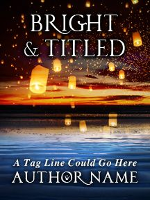 Floating Lanterns on a Tranquil Sea - An Alluring and Bright Novel | Customizable Book Cover by RLSather | SelfPubBookCovers: One-of-a-kind premade book covers where Authors can instantly customize and download their covers, and where Artists can post a cover and name their own price.