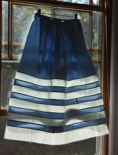 Claudine's organza-striped skirt