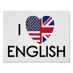 Shop I Love English Poster. Poster created by TheAbstractVision. Improve English Speaking, Learning English For Kids, Improve Your English, Learn English, English Vocabulary, English Grammar, Language Logo, English Logo, Instagram Follower Free