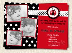 Hey, I found this really awesome Etsy listing at http://www.etsy.com/listing/88874494/ladybug-birthday-invitations