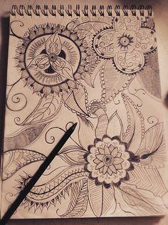 Aztec flower pattern| Creativity is on point.