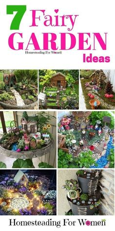 7 Fairy Garden Ideas that you kids will love! Combine your favorite herbs in the little village to make gardening more fun!