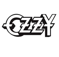 Ozzy Osbourne --  text title logo for musician