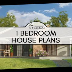 Browse through this collection for one-bedroom house plans and designs to find the floor plan that best suits your requirements! These small house plans are perfect for small plot sizes, and make maximum use of the space that's available. 1 bedroom floor designs come in single-storey house plans, which are affordable floor plans for new homeowners in Africa, and are easily accessible.
