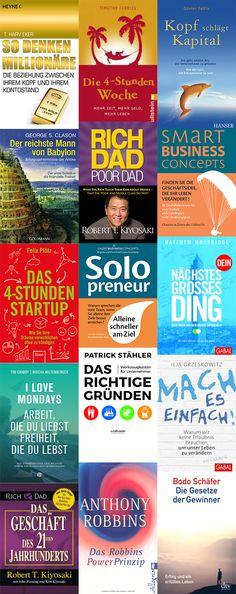 Die besten Bücher um das eigene Mindset zu verändern und endlich sein eigenes Business zu starten! Job Info, Happiness Project, Investing Money, Inspirational Books, New Job, Online Marketing, Helpful Hints, Online Business, Books To Read