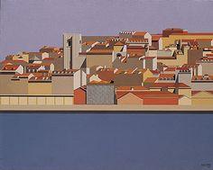 MALUDA - Lisboa XXXI (Casa dos Bicos)  Óleo sobre tela, 1986, 73x92cm  Colecção da Tabaqueira, Lisboa