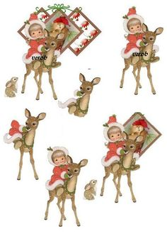Christmas Decoupage, Christmas Deer, Vintage Christmas, Christmas Holidays, Christmas Crafts, Image 3d, Wire Jewelry Designs, Parchment Cards, 3d Sheets