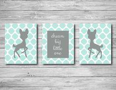 Dream Big Little One: https://www.etsy.com/listing/193649836/baby-nursery-print-deer-woodland-birch