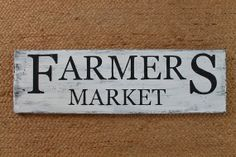 Farmers Market  Black and White Wood Sign by SpoonfulofSassy, $28.00