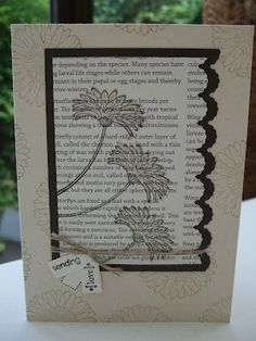 l like the border punched matting, the text paper background and the silhouette flowers