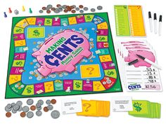 Making Cents Money Game - Kids race to fill up their piggy banks—and polish their money skills as they play!