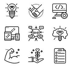 There's a million free icons around, but not all of them are good. Here are the best free icons that you might actually use in your next commercial project. Resume Icons, Job Resume, Web Design Tools, Tool Design, Work Icon, Wedding Card Templates, Simple Lines, Writing, Learning