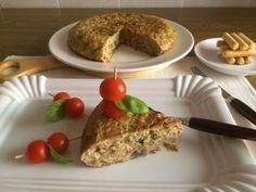 De Buena Mesa: Tortilla de Berenjena Blanca con Bacon y Tomates Secados al Sol