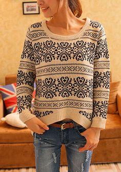 Geo-Patterned Sweater