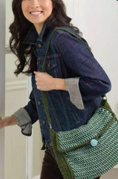 Check out this adorable Striped Afghan-Crochet Bag. Perfect for toting all the things you love. Free pattern here!