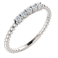 White, yellow or rose gold Diamond Stackable Ring. (Also available in Platinum or Sterling Silver) Blue Topaz Ring, Topaz Gemstone, Gemstone Rings, Chrome Hearts Ring, Topaz Jewelry, Gold Jewelry, Jewellery, Stackable Diamond Rings, Gold And Silver Rings