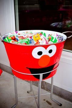 """Photo 4 of Elmo & Sesame Street / Birthday """"Ivy Loves Elmo"""" Elmo Invitations, Sesame Street Invitations, 3rd Birthday Parties, 2nd Birthday, Birthday Ideas, Sesame Street Birthday Party Ideas, Diy Elmo Birthday Party, Elmo Party Favors, Elmo Party Decorations"""