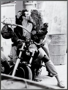 cool pics of motorcycle couples kissing | Kissing on Harley Davidson Framed Canvas Print