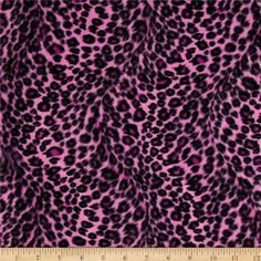 Pink Leopard Fabric