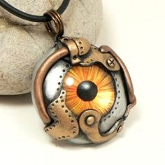 Amber Iris Faux Mechanical Futuristic Sci fi eye