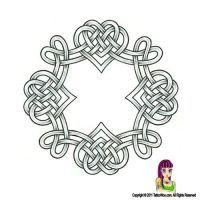 Celtic Love Hearts Knot Tattoo