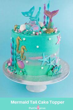 Savory magic cake with roasted peppers and tandoori - Clean Eating Snacks Mermaid Tail Cake, Mermaid Cakes, Raspberry Smoothie, Apple Smoothies, Sirenita Cake, Bolo Moana, Mermaid Birthday Cakes, Butterfly Birthday Cakes, Salty Cake