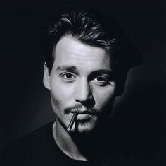 johnny depp, best, ever, good looking, smoke, black and white, perfect boy, acter