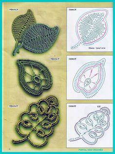 grafico Folhas em crochê