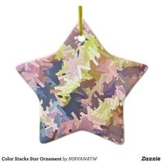 Color Stacks Star Ornament