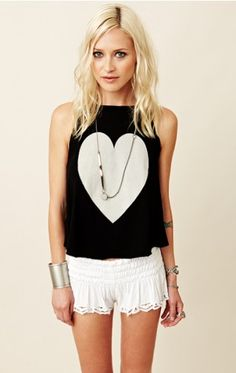 WILDFOX Big Heart Cassidy Tank - Great for Valentines Day