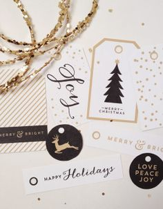 [in five]: Free Christmas Gift Tag Printables