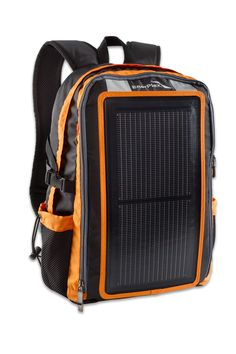 Quite literally the coolest thing to happen to a backpack in FOREVER.  This is the Packr Solar Backpack from EnerPlex.  Inside the front pocket is a tiny USB socket.  Simply plug your USB enabled gadget (Smartphone, GPS, VHF radio, iPod) into this socket and you are done.  No more worries about running out of power when you're enjoying the great outdoors.