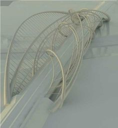 Parametric Bridge by William Lopez Campo Biomimicry Architecture, Bridges Architecture, Floating Architecture, Parametric Design, Architecture Design, Bridge Model, Bridge Structure, Amsterdam Bridge, Co Housing
