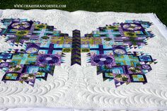 I am in *LOVE* I am always in love with Jill's quilts! But I have this pattern I have many collections of fabrics to choose from in order to make it....and I haven't yet. But this inspires me to do so! I had so much fun quilting it. This is Tula Pink's Butterfly quilt. It's…