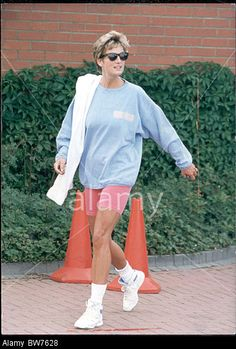 August 24, 1994:   Princess Diana leaving a session at the Chelsea Harbour Club, London.