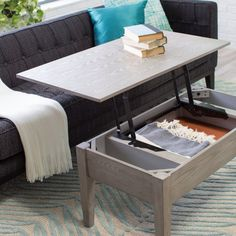 Turner Lift Top Coffee Table Gray Tables At Hayneedle Modern
