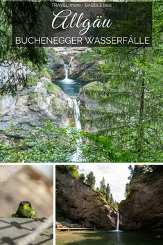 Allgäu - Buchenegger Wasserfälle The Buchenegger waterfalls are certainly among the most beautiful waterfalls in the Allgäu! Whether cliff jumping, hiking, swimming or just chilling - here is really e Costa, Les Cascades, Let It Out, Beautiful Waterfalls, Outdoor Travel, Places To See, Traveling By Yourself, Travel Destinations, Vacation Travel