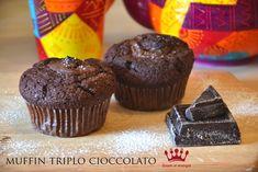 Muffin triplo cioccolato | Gnam si mangia. Una ricetta golossisima, con nutella e cioccolato fondente, questi muffin vi conquisteranno!